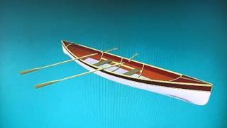 Flywood three sheets rowboat 3D model.AVI