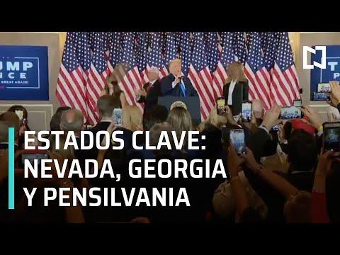 Estados clave para la Elección en EUA 2020 - Las Noticias