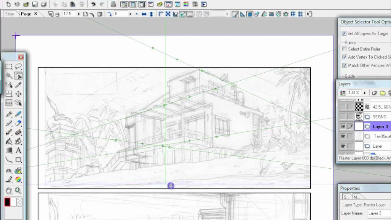 perspective ruler clip studio