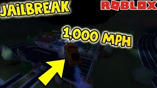 HOW TO GO 1000 MPH IN JAILBREAK | ROBLOX