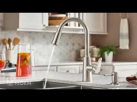 Edwyn Spot Resist Stainless One Handle High Arc Pulldown Kitchen Faucet Youtube