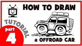 How to draw a off road car. Part 4. Мастер класс. Как нарисовать внедорожник. Часть 4.