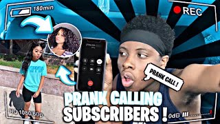 Prank Calling Subscribers!!!( Called The Police 🚔 ) 😮