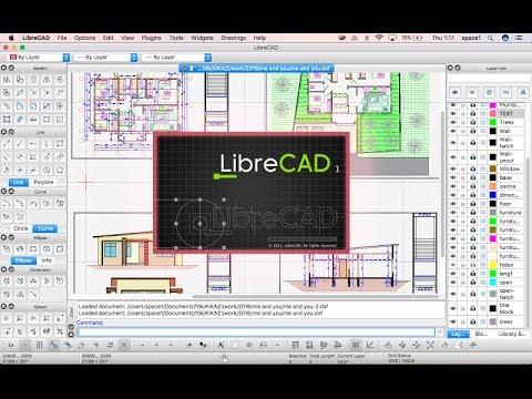 2D 캐드와 리브레캐드LibreCAD 소개 및 설치, 인터페이스