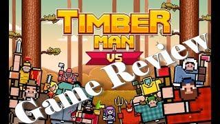 TimberMan Honest Game Review of $1.99 Eshop game