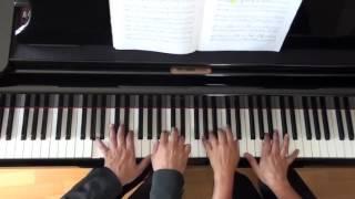 Tchaikovsky - Swan Lake Waltz - Piano 4 hands - Ramzi Hakim, Franca Moschini