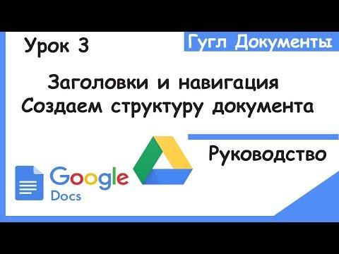Гугл документы для начинающих. Как создать структуру для навигации по странице.Google Docs.Урок 3.