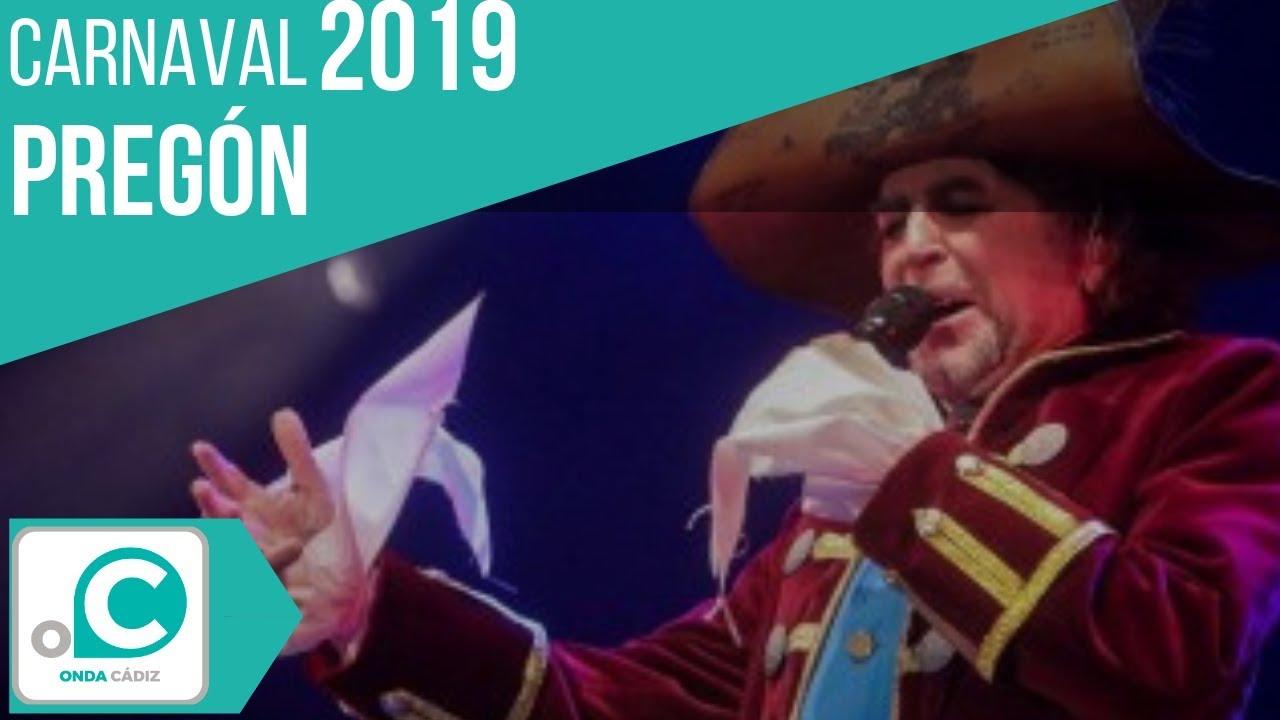 Poema A Cádiz Pregón Carnaval De Cádiz 2019 Joaquín Sabina