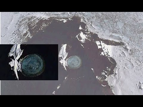 Melting Antarctica Ice Reveals UFO Underwater Base
