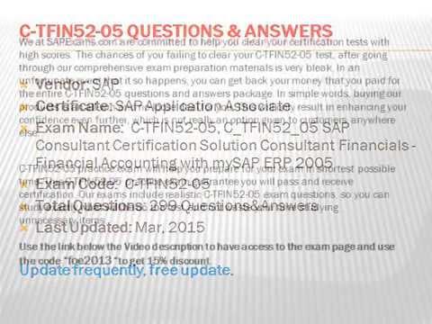 C_TFIN52_05 SAP Consultant Certification Solution Consultant ...