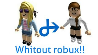 """""""How to look cute on roblox without robux""""!!!!! (girl version)"""