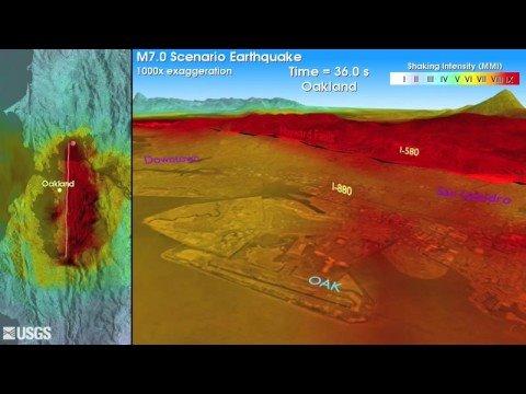 M7.0 Earthquake Simulation For Hayward Fault, California