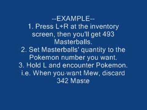 Pokemon Diamond/Pearl Action Replay Codes