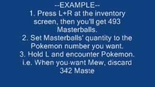 Pokemon Diamond/Pearl Action Replay Codes