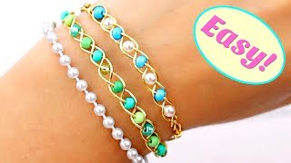 Easy Elastic Bracelets How To Make Jewelry