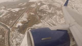 Delta 767-300ER Long Takeoff from Salt Lake City in Low Visibility