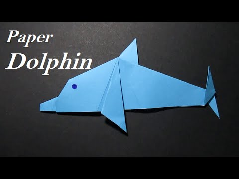 origami dolphin origami dolphin easy step by step youtube