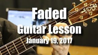 Download Faded Guitar Lesson - Chords in 5 Different Keys