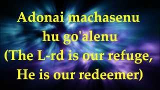 Adonai Machasenu - Lyrics and Translation
