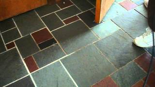 Cleaning grout with steam!