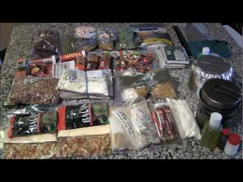 Food for a 3 day trip to the backcountry