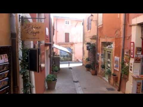 Roussillon, France. Full HD. 1920 x 1080p. Provence's most beautiful red stone village.