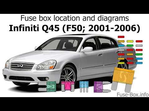 [QMVU_8575]  Fuse box location and diagrams: Infiniti Q45 (2001-2006) - YouTube | Infinity Q45t Fuse Box |  | YouTube