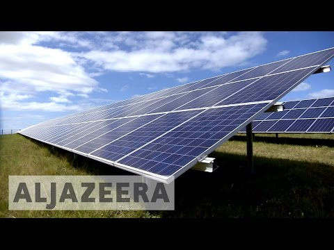 Solar panels prop up South Africa's electricity grid
