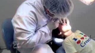 Arrancando dente, primeira injeção.