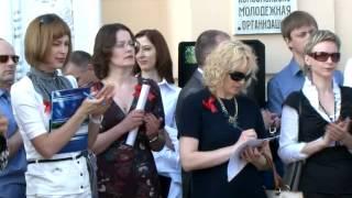 Birinchi dizel poezd Kalinkovichi--bir uchastkasi bo'yicha DP1 ochish harakati Slovechno, 1-may, 2012-yil, Kalinkavichy shahar