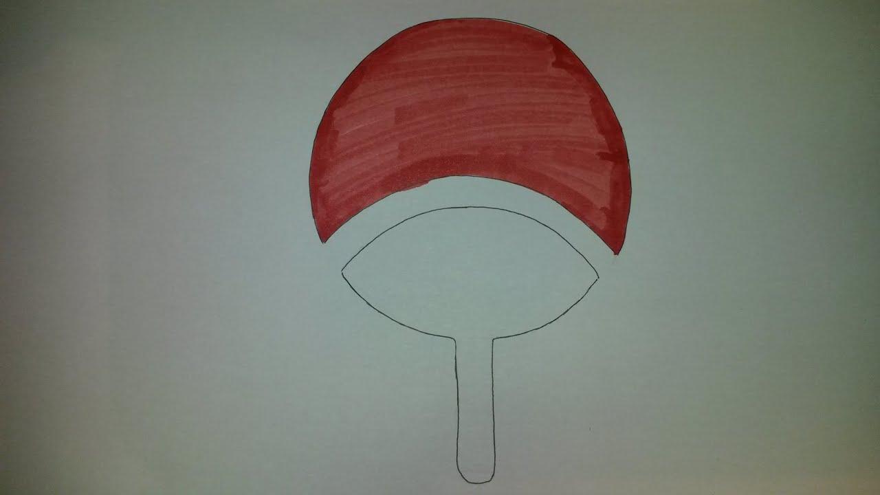 How To Draw Uchiha Clan Symbol Youtube