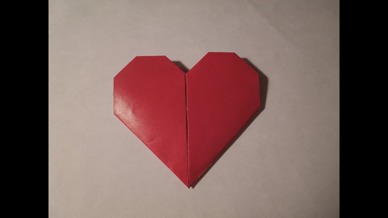 easy hd origami heart great mother s day present youtube