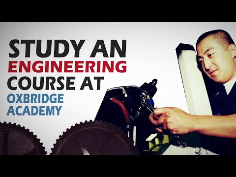 Study an Engineering Course at Oxbridge Academy