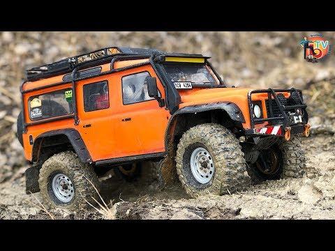 RC TRUCKs Off Road Adventure Expedice! Traxxas TRX Land Rover Defender