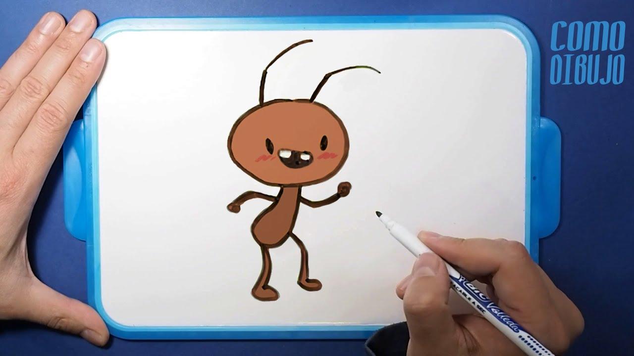 Como Dibujar y Colorear una Hormiga Kawaii paso a paso ...