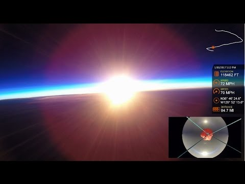High Altitude Balloon 7 (Gopro Hero 3 & 4 Cameras)