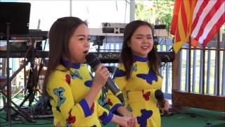 Thanh Hằng, Thanh Hà với ban nhạc Tia Nắng. Em Đi Trên cỏ non.