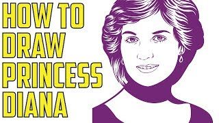 How To Draw Princess Diana For Kids Step By Step