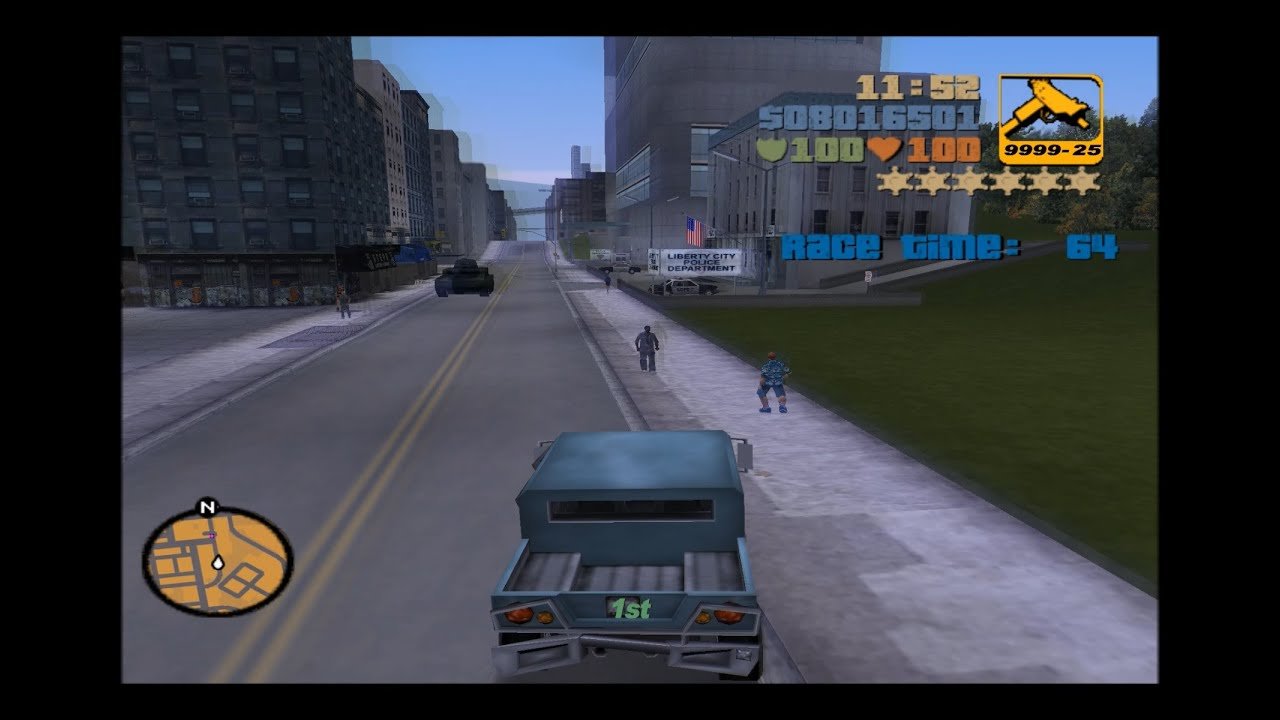 GTA 3 - Turismo race with 6 wanted stars - YouTube
