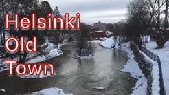 Helsinki Vanhakaupunki/Old Town/Gammelstaden Early spring day Vantaa river