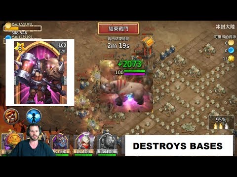 New Hero WILD Rhino GAMEPLAY BEAST AOE For Real Castle Clash