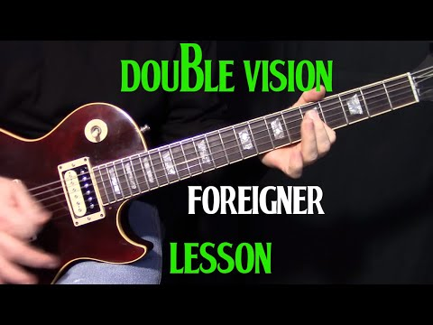 how to play Double Vision  Foreigner  guitar lesson
