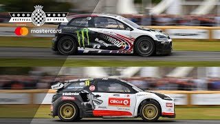Petter v Oliver Solberg   FOS hillclimb shootout side-by-side