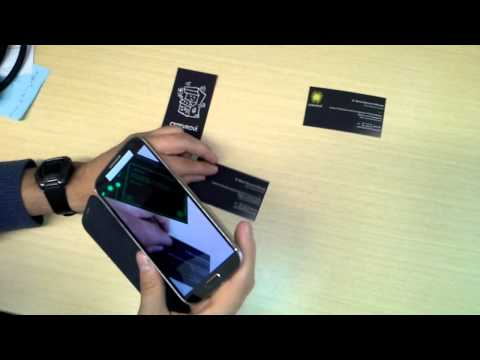 Augmented Reality Business Cards.