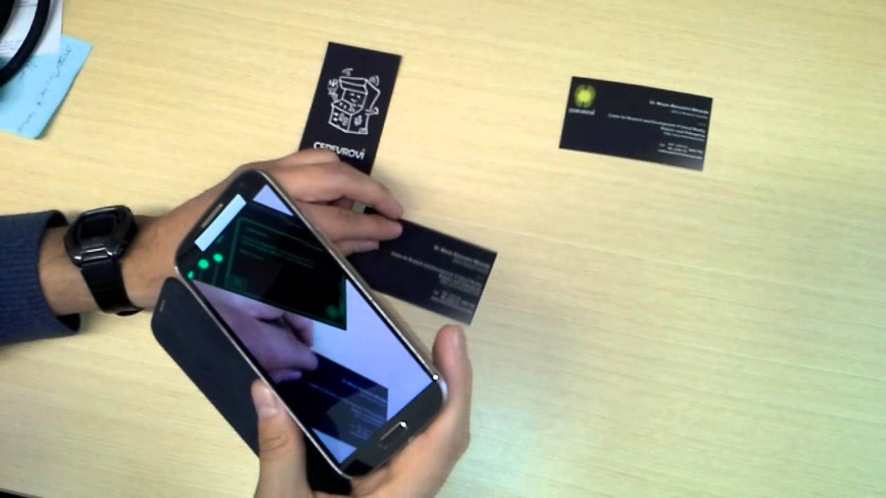 Augmented Reality Business Cards. - YouTube