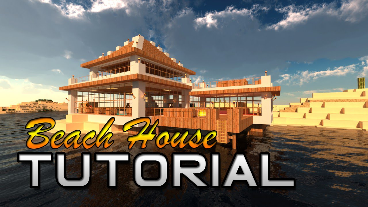Minecraft Beach House Tutorial No Blocks Needed! [Very ...