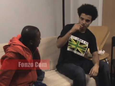 Behind the scenes on Damien Lil D Morgan Akala Interview in Birmingham