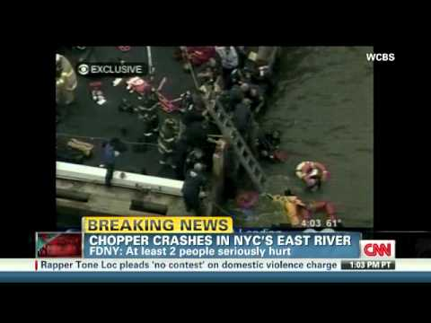 Helicopter crashes in New York river