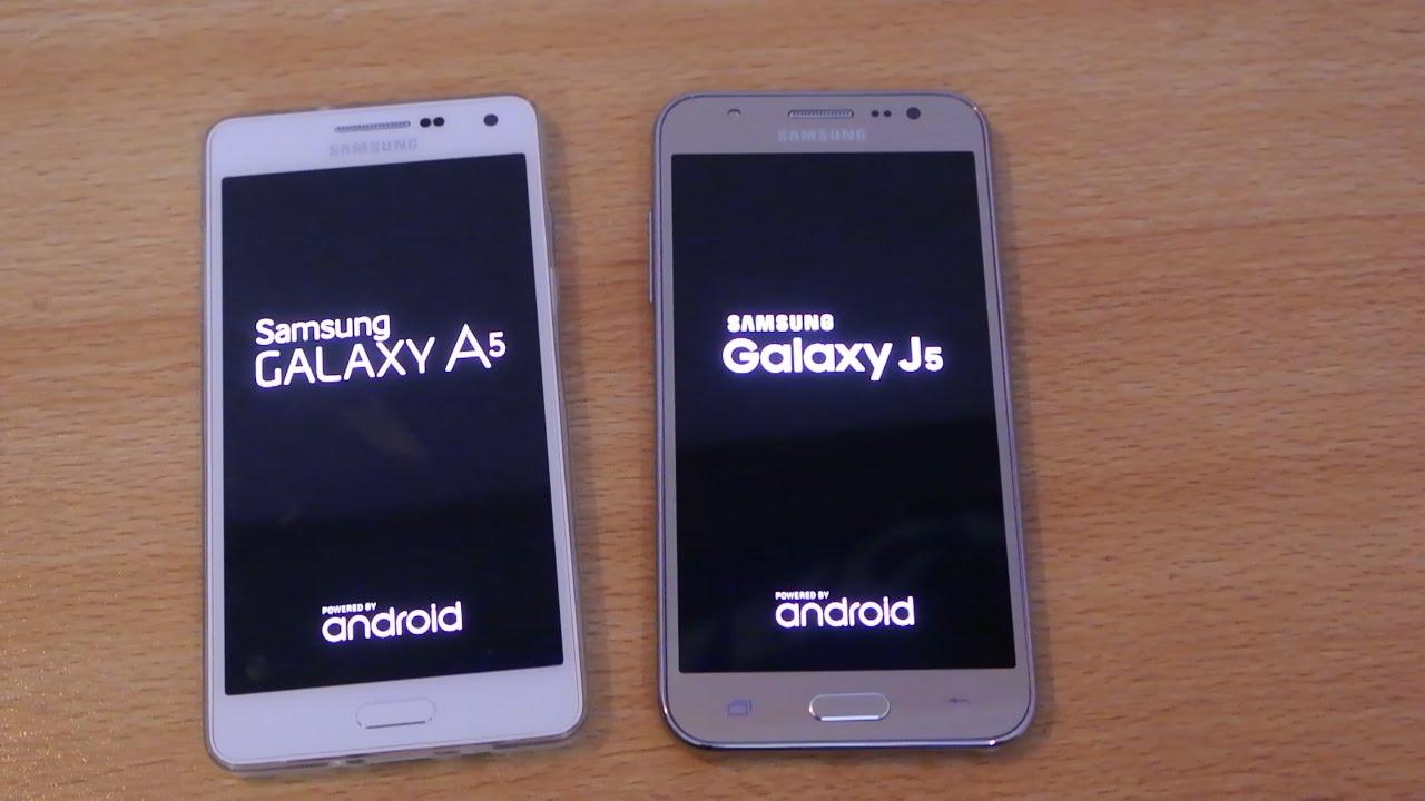samsung galaxy j5 vs galaxy a5   speed test hd   youtube