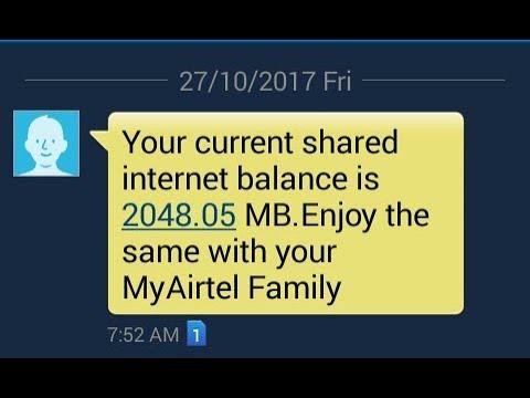 airtel Internet transfer    how to transfer airtel to airtel Internet proof thumbnail